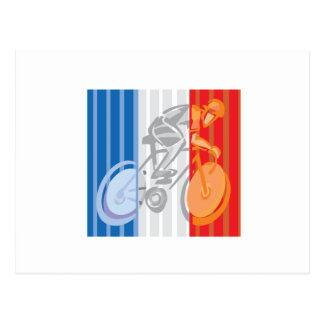 French Cyclist Postcard