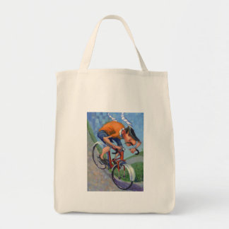 French Cyclist Tote Bag