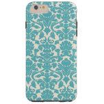 French Damask, Ornaments, Swirls - Blue White Tough iPhone 6 Plus Case