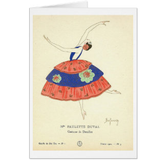 French Dancer Card