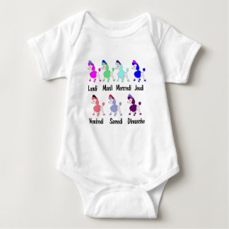 French Days of the Week Baby Bodysuit