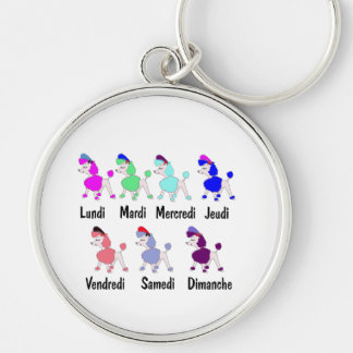 French Days of the Week Keychains