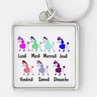 French Days of the Week Key Chain