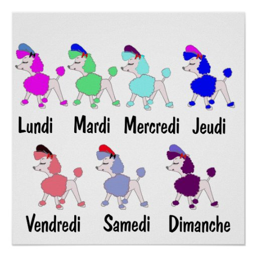 French Days of the Week Posters