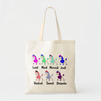 French Days of the Week Tote Bag
