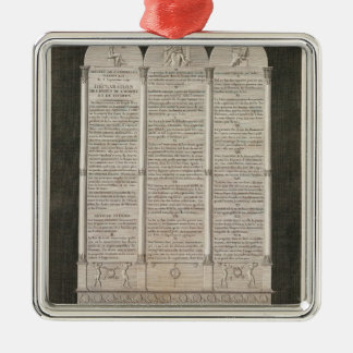 French Declaration of the Rights of Man Metal Ornament