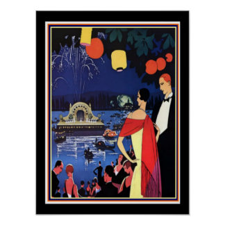 French Deco Travel Poster 12 x 16