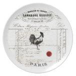 French decor melamine plate - Chicken