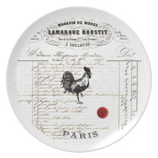 French decor melamine plate - Chicken