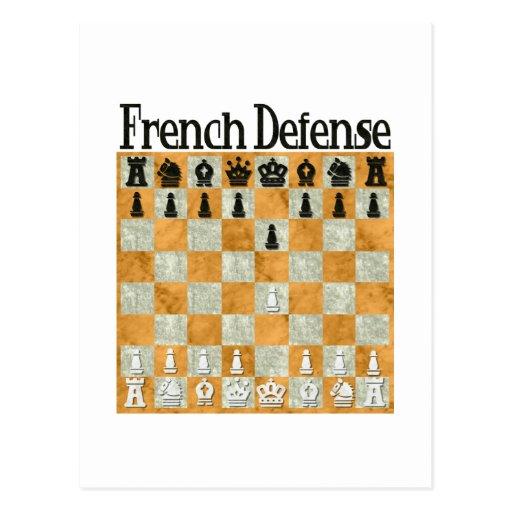 French Defense Postcard