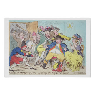 'French Democrats Surprising the Royal Runaways', Poster