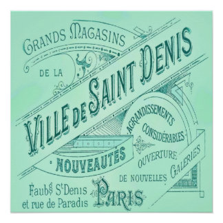 French Department Store Vintage Advertisement Poster