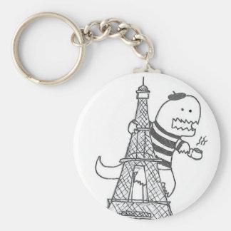 French Dinosaur Keychain