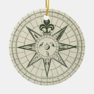 French Direction Ceramic Ornament