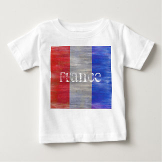 French Distressed Flag - France Baby T-Shirt