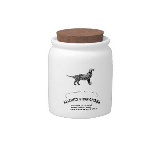 French Dog Biscuits Canister Candy Dish