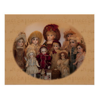 French Dolls and Friends Poster