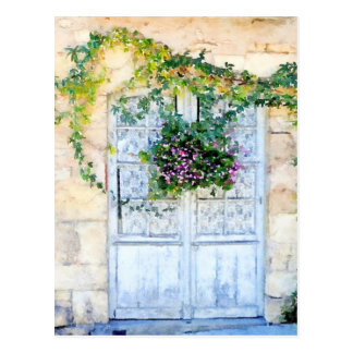 French Doors Postcard