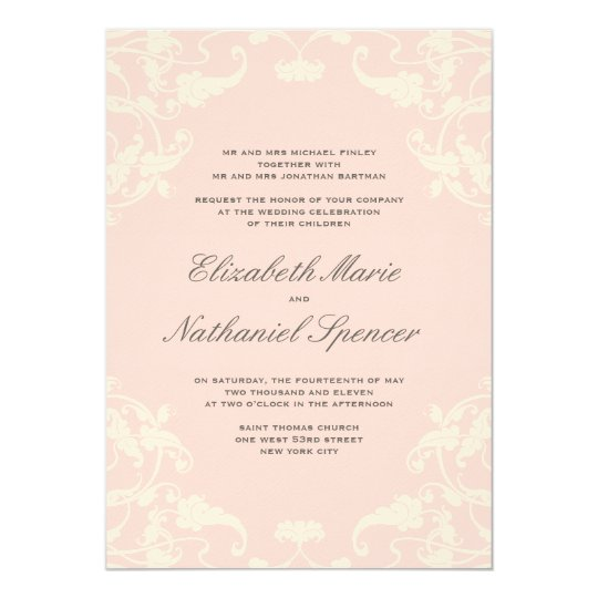 French Dream Wedding Invitation Blush