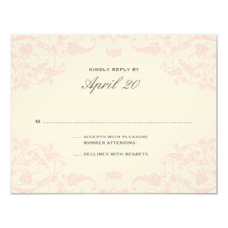 French Dream Wedding RSVP Blush Custom Announcement