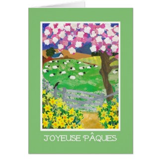 French Easter Card with Countryside in Spring