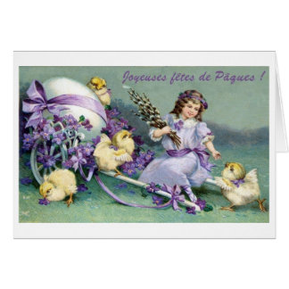 French Easter Fête de Pâques Card Greeting Card