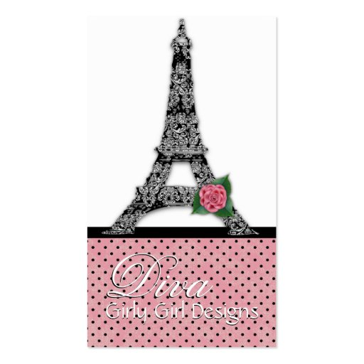 French eiffel tower girly girl a business cards zazzle