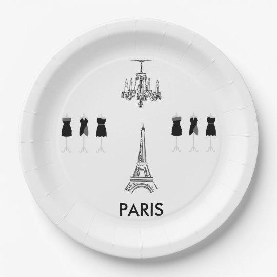 French Eiffel Tower Paris Theme Party Paper Plates  sc 1 st  Zazzle & French Eiffel Tower Paris Theme Party Paper Plates | Zazzle.com