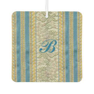 French Embroidered Floral Fabric Look Customizable Car Air Freshener