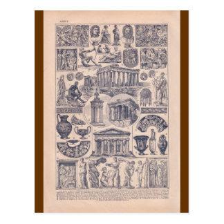 French Encyclopedia 1920, Ancient Greece Postcard