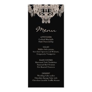 French/English | Chandelier Wedding Menu Card