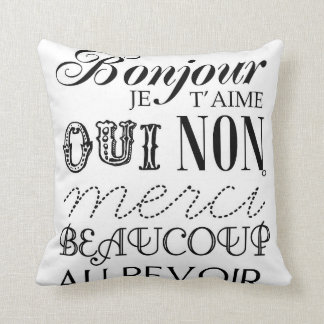 French Essentials Throw Pillow
