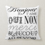 French Essentials Throw Pillows