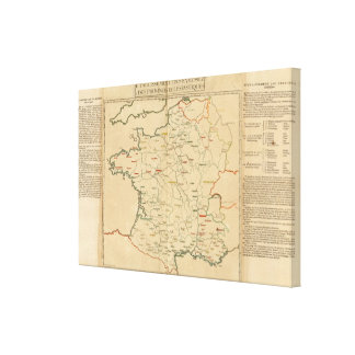 French Establishments Stretched Canvas Prints