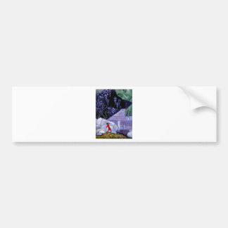 French Fairy Tale Art Painting Car Bumper Sticker