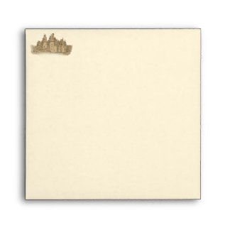 French Fairy Tale Castle Envelopes for Invites