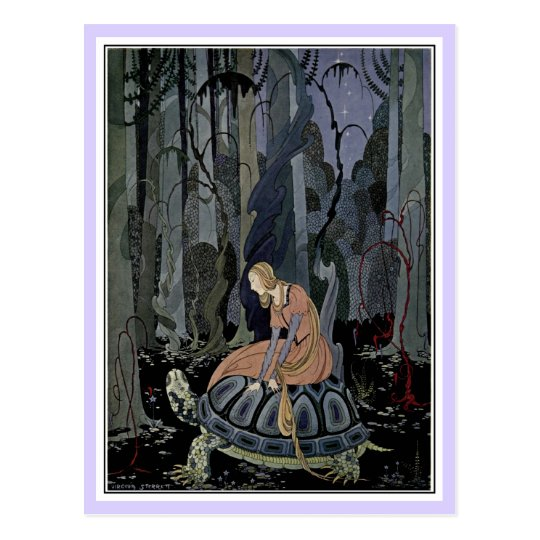 French fairy tales: Blondine and Bonne-Biche Postcard