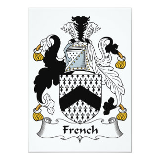 French Family Crest Card