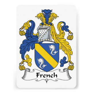 French Family Crest Personalized Invite