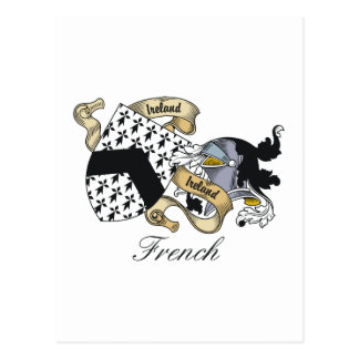 French Family Crest Post Cards