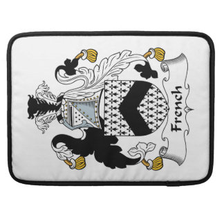 French Family Crest Sleeves For MacBook Pro