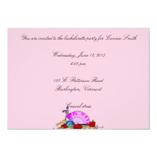 French Fan and Perfume Design 5x7 Paper Invitation Card
