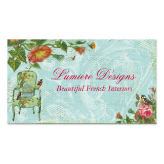 French Fandango Garden Double-Sided Standard Business Cards (Pack Of 100)