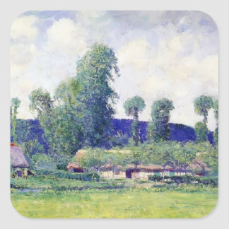 French Farm by Guy Rose Square Sticker