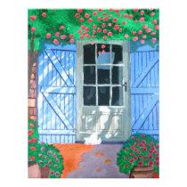 French farm yard letterhead