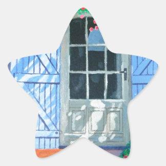 French farm yard star sticker
