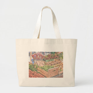 French Farmers Market Large Tote Bag