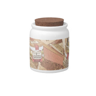 French Farmers Market Spices Candy Jars