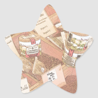 French Farmers Market Spices Star Sticker