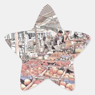 French Farmers Market Star Sticker